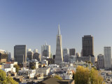 California, San Francisco, Downtown Skyline and Transamerican Pyramid, USA Photographic Print by Michele Falzone