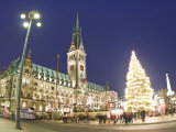 Christmas Market, Rathaus, Hamburg, State of Hamburg, Germany Photographic Print by Jon Arnold