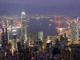 View over Hong Kong from Victoria Peak Fotografisk tryk af Andrew Watson