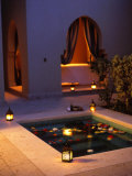 Four Seasons Resort Hotel, Plunge Pool in Private Outdoor Area of the Spa at Night Photographie par John Warburton-lee