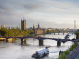 Houses of Parliament and River Thames, London, England, UK Photographic Print by Jon Arnold