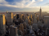 New York City, Manhattan, View of Downtown and Empire State Building from Rockerfeller Centre, USA Fotografie-Druck von Gavin Hellier