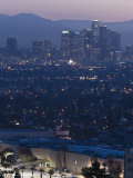California, Los Angeles, Downtown View from Baldwin Hills, Dawn, USA Photographic Print by Walter Bibikow