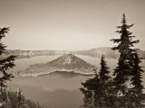 Oregon, Crater Lake National Park, Crater Lake and Wizard Island, USA Photographic Print by Michele Falzone