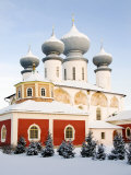 Uspensky Cathedral, Bogorodichno-Uspenskij Monastery, Tikhvin, Leningrad Region, Russia Photographic Print by Nadia Isakova