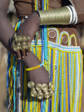 Finery of a Datoga Woman, Tanzania Fotografisk tryk af Nigel Pavitt