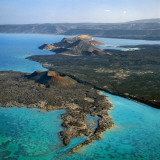 Aerial View of the Volcanic Cones at the Inlet of Ghoubbet El Kharab Photographie par Nigel Pavitt