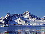 Paradise Harbour, the Chilean Base in Paradise Harbour on Antarctic Peninsula, Antarctica Photographic Print by Mark Hannaford