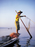 Fisherman, Lake Inle, Burma Photographic Print by Peter Adams