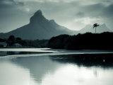 Western Mauritius, Tamarin, Montagne Du Rempart Mountain, Mauritius Fotografisk trykk av Walter Bibikow