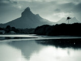 Western Mauritius, Tamarin, Montagne Du Rempart Mountain, Mauritius Photographic Print by Walter Bibikow