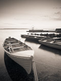 Boats on Lake, Connemara, County Galway, Ireland Photographic Print by Peter Adams