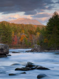 Maine, West Branch of the Penobscot River and Mount Katahdin in Baxter State Park, USA Photographic Print by Alan Copson