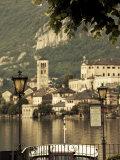 Piedmont, Lake Orta, Orta San Giulio, Isola San Giulio Island, Italy Photographic Print by Walter Bibikow