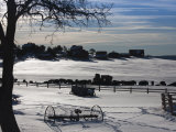 Utah, Mt. Carmel Junction, Buffalo Ranch, Winter, USA Photographic Print by Walter Bibikow