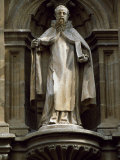 Statue on Cathedral of Santo Domingo, an Important Stop for Pilgrims Following the St James's Way Photographic Print by John Warburton-lee