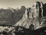 Utah, Virgin, Traffic on the Zion-Mt, Carmel Highway, Winter, USA Photographic Print by Walter Bibikow