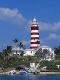Lighthouse at Hope Town on the Island of Abaco, the Bahamas Photographic Print by William Gray
