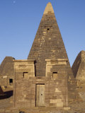 Situated a Short Distance East of Nile, Ancient Pyramids of Meroe are an Important Burial Ground Photographic Print by Nigel Pavitt