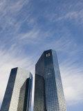 Hessen, Frankfurt-Am-Main, Financial District, Mainzer Landstrasse, Deutsche Bank, Germany Photographic Print by Walter Bibikow