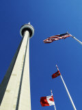 Cn Tower at 533 M or 1,815 Ft High, Canada's Wonder of the World, in Downtown Toronto Photographic Print by Mark Hannaford