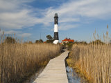 New York, Long Island, Fire Island, Robert Moses State Park, Fire Island Lighthouse, USA Photographic Print by Walter Bibikow