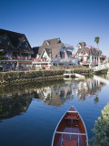 California, Los Angeles, Venice, Homes Along Venice Canals, USA Photographic Print by Walter Bibikow