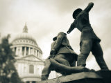 National Firefighters Monument, St, Paul's Cathedral, London, England Photographic Print by Jon Arnold