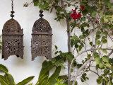Lanterns on Wall, Betancuria, Fuerteventura, Canary Islands, Spain Photographic Print by Jon Arnold