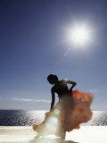 Flamenco Dancing by Sea in Full Sunlight, Ibiza, Spain, Europe Fotodruck von  Purcell-Holmes