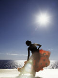 Flamenco Dancing by Sea in Full Sunlight, Ibiza, Spain, Europe Stampa fotografica di  Purcell-Holmes