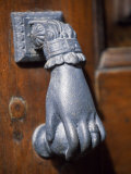 Door Knocker on a House in the Small Hill Top Village of Briones Photographic Print by John Warburton-lee