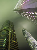 Highrises Soar over the Business District of Central on Hong Kong Island Photographic Print by Andrew Watson