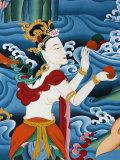 Painting of a Tibetan Deity, Kopan Monastery, Kathmandu, Nepal, Asia Photographic Print by  Godong