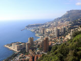 Elevated View over the City, Monte Carlo, Monaco, Cote D'Azur, Mediterranean, Europe Photographic Print by Vincenzo Lombardo