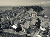 Lombardy, Lake District, Lake Garda, Sirmione, Town View from Castello Scaligero, B,1250, Italy Photographic Print by Walter Bibikow