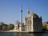 Mecidiye Mosque Stands on Water's Edge at Ortakoy, One of Pretty Bosphorus Villages in Istanbul Photographic Print by Julian Love