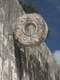 One of the Stone Hoops in the Great Ball Court, Chichen Itza, Yucatan Photographic Print by Richard Maschmeyer