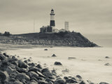 New York, Long Island, Montauk, Montauk Point Lighthouse, USA Photographie par Walter Bibikow