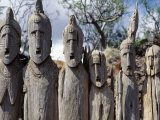 Konso People Place Carved Wooden Effigies to Honour their Illustrious Ancestors, Southwest Ethiopia Photographic Print by Nigel Pavitt