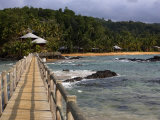 View of the Wooden Walkway at Bom Bom Island Resort, Bom Bom Island Resort Is on the Island of Prin Photographic Print by Camilla Watson