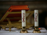 Altar Candles, Siena, Tuscany, Italy, Europe Photographic Print by  Godong