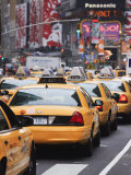 Taxis and Traffic in Times Square, Manhattan Photographic Print by Amanda Hall