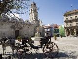 Plaza San Francisco and Basilica Menor De San Francisco De Asis, Old Havana Photographic Print by John Harden