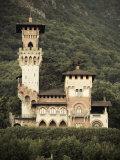 Ticino, Lake Lugano, Lugano, Lakefront Villa, Paradiso, Switzerland Photographic Print by Walter Bibikow