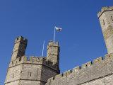 Gwynedd, Caernarvon, the Turrets of Caernarvon Castle, Wales Photographic Print by John Warburton-lee