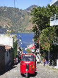 Auto Rickshaw, San Pedro, San Pedro La Laguna, Lake Atitlan, Guatemala, Central America Photographic Print by Wendy Connett