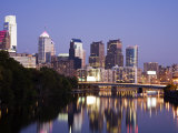 Schuylkill River and Philadelphia Skyline, Philadelphia, Pennsylvania Photographic Print by Richard Cummins