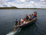Boat on Lake Tanganyika, Tanzania, East Africa, Africa Photographic Print by Andrew Mcconnell