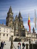 Facade of Cathedral Seen from Praza Do Obradoiro, Santiago De Compostela, Galicia Photographic Print by Nick Servian